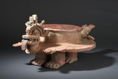 Autel cérémoniel, Dragon, Jama-Coaque, Equateur, Pre-columbian art, ecuador